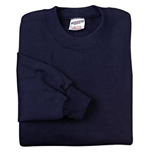 Jerzees mens 9.5 oz. 50/50 Super Sweats NuBlend Fleece Crew(4662)-J NAVY-3XL