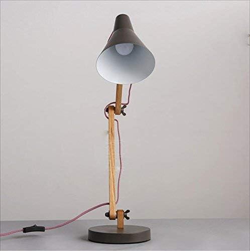 Wood Swing Arm Desk Lamp, Designer Table Lamp, Reading Lights, Study Lamp, Work Lamp, Office Lamp, Bedside Nightstand Lamp, LED Lamp - Black