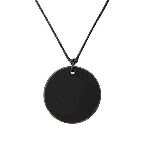Shungite Pendant Large Circle Necklace: Guaranteed Authentic Russian  Natural Healing Stone from Karelia - EMF Radiation Protection, Chakra  Balancing,