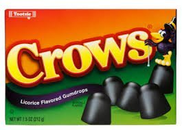 Tootsie Crows Licorice Flavored Gumdrops (2 Pack) Crows Licorice
