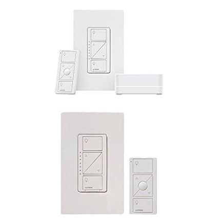 LUTRON Alexa Compatible Caseta Wireless Dimmer Kit + Caseta Wireless Multi-Location In-Wall