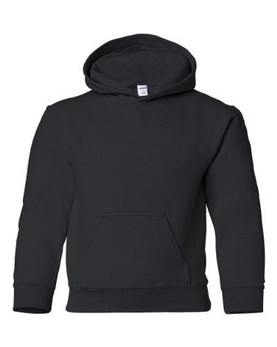 Gildan Heavy Blend Hooded Sweatshirt (G185B) Black, L