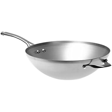 Calphalon Contemporary Stainless 13-Inch Flat-Bottom Wok