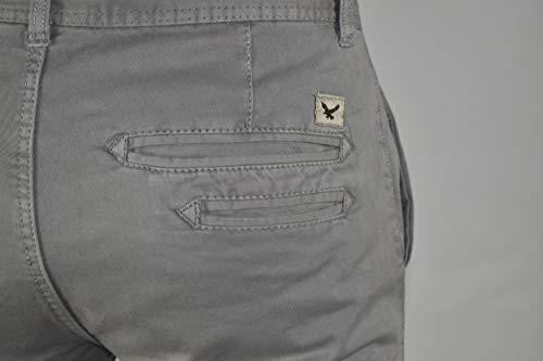 100 Regular Unie Couleur 1stamerican Stretch Twill Pantalon Hommes Fit Chino Gris Pour Claire Coton xqIUZ