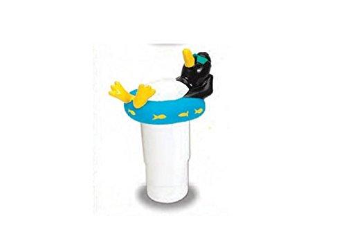 HydroTools by Swimline Large Capacity Floating Penguin Pool Chemical Dispenser