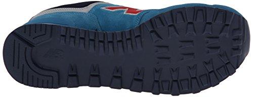 Nieuwe Balans Heren Ml574 Uit Oost Collectie Klassiek Hardloop Sneaker Blauw / Rood