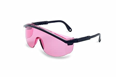 Uvex S1362C Astrospec 3000 Safety Eyewear, Black Frame, SCT-Vermillion UV Extreme Anti-Fog (Black Frame Vermillion Lens)