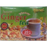 Honsei Instant Ginger Honey Tea  18 G/0.63oz - Product of Si