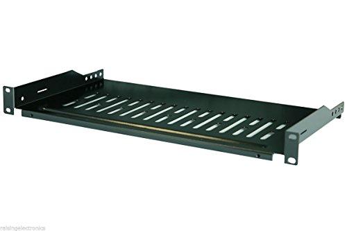Rising 19'' 1U 12''(300mm) Deep Cantilever Server Shelf Vented Shelves Rack ()