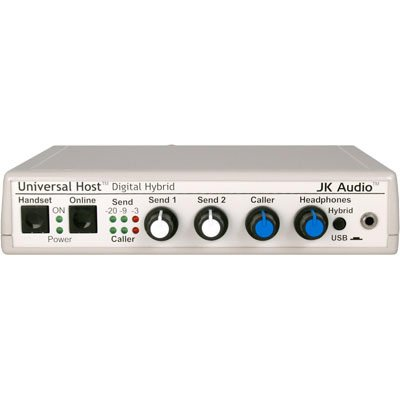 Universal Telephone Interface - JK Audio Universal Host Desktop Digital Hybrid Telephone Interface, 16-bit USB Audio Codec, 48kHz Sampling, Works with IP and PBX Telephones