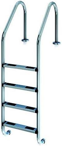 Escalera standard acero inoxidable 4 peldaños antider: Amazon.es: Jardín