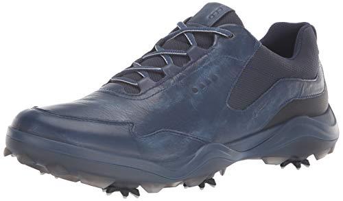 Gore Tex Golf - ECCO Men's Strike Gore-TEX Golf Shoe, True Navy Yak Leather, 10 M US
