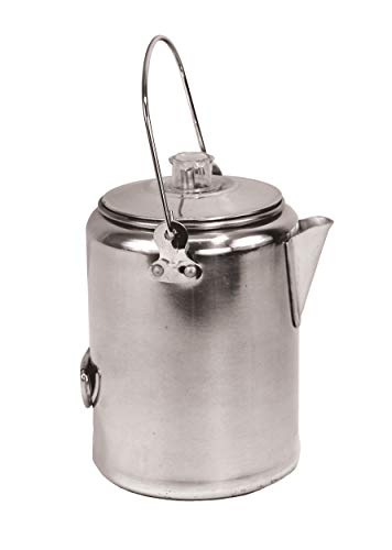 Texsport Aluminum 20 Cup Percolator Coffee Maker for Outdoor Camping