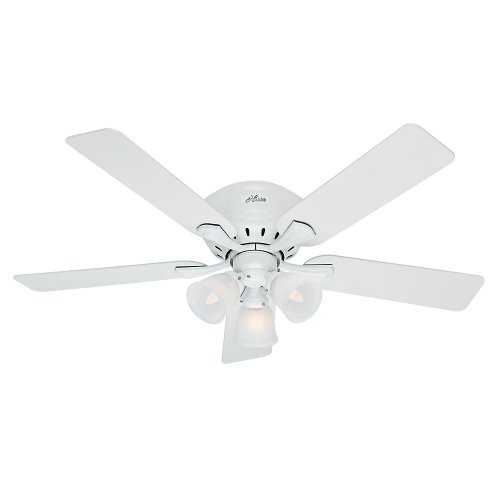 hunter-53011-reinert-ceiling-fan-with-light-52-span-5-blades-snow-white