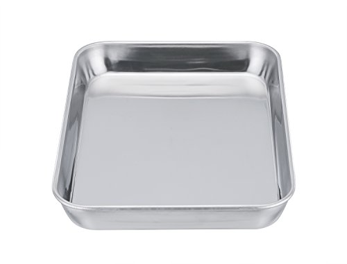 Teamfar Pure Stainless Steel Toaster Oven Pan Tray Ovenware 7 39 39 X9 39 39 X1 39 39 Heavy Duty Healthy