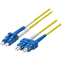LC TO SC Duplex Single Mode, 2 Meter, Corning Fiber Patch Cord Cable