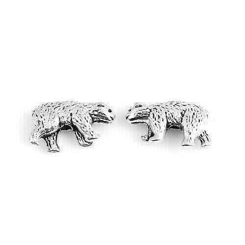 20 Antiqued Tibetan Silver 16x10mm Double Two Sided 3D Design Bear Spacer Beads