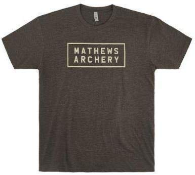 MATHEWS Block Logo Tee Heather Brown