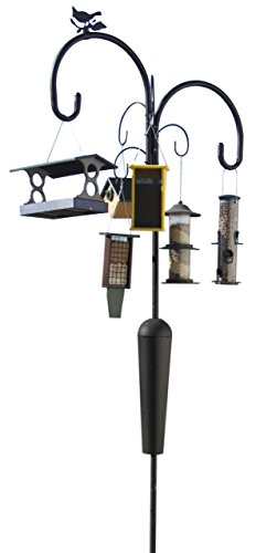Yellowstone: Old Faithful Birdfeeder Pole and Hook By Squirrel Stopper, 6 Hanging Stations (YSOF08) by Squirrel Stopper