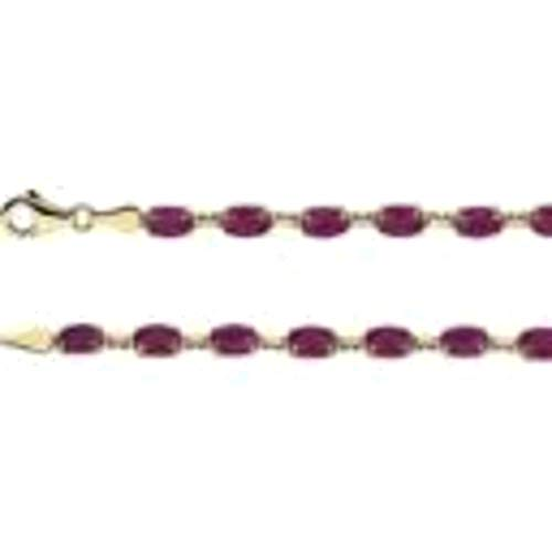 Lab-Created Ruby 14k Yellow Gold Lab-Grown Ruby 7.25