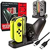 Switch Pro Controller Dock, Orzly Docking Station [with Individual Charge LED Indicator Lights