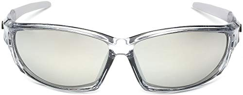 X-Loop Men/'s Frosted Clear Frame Colorful Wrap Around Baseball Cycling...