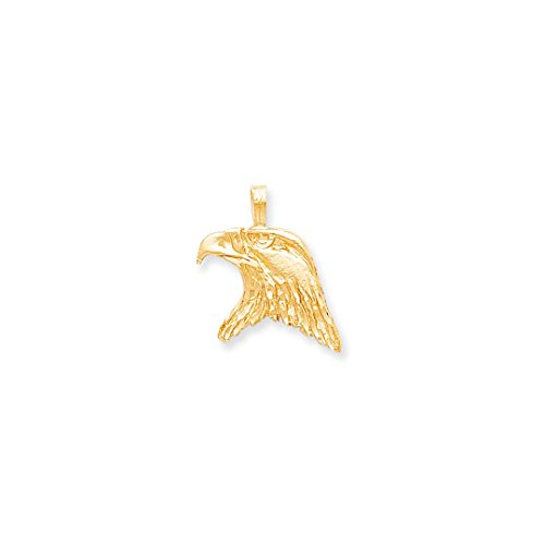 ICE CARATS 10kt Yellow Gold Solid Eagle Head Pendant Charm Necklace Bird Fine Jewelry Ideal Gifts For Women Gift Set From Heart Eagle Pendant 10kt Gold Jewelry