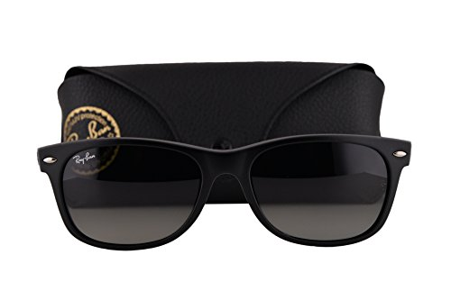 Ray Ban RB2132 New Wayfarer Sunglasses Black Blue w/Gray Gradient Lens 618371 RB ()