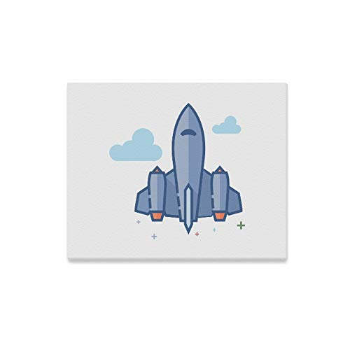 Wall Art Painting Stealth Bomber Icon Outlined Flat for sale  Delivered anywhere in Canada