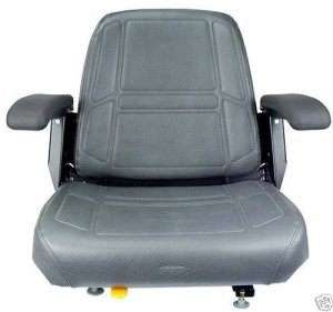 Charcoal Gray Seat, Bunton, Bobcat, Dixie, Snapper, Toro, Exmark Zero Turn Mower