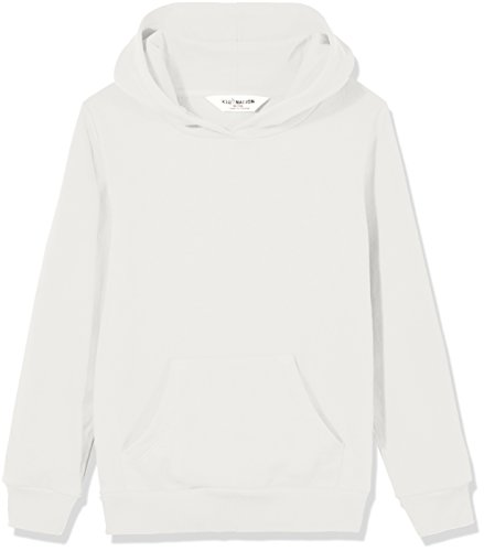 - Kid Nation Kids' French Terry Oversized Solid Hoodie Sweatshirt for Boys Or Girls L White