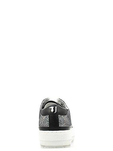 Trussardi Jeans 79s02049, Zapatillas Deportivas para Interior para Mujer Nero-Silv