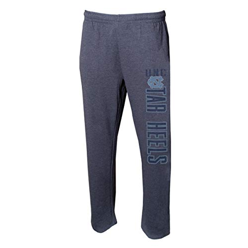 (Concepts Sport Men's NCAA -Squeeze Play- Terry Cloth Sleepwear Pajama Pants-Heathered-North Carolina Tar Heels-Large)
