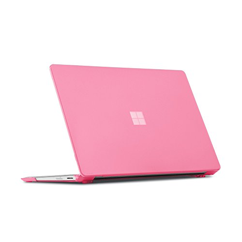 Cover Translucent Pink Case - iPearl mCover Hard Shell Case for 13.5-inch Microsoft Surface Laptop Computer (NOT Compatible with Surface Book and Tablet) (Pink)