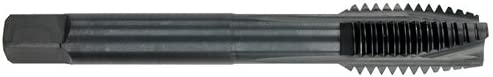 Morse Cutting Tools 34818 ONYX Spiral Point Tap 4 Flutes D6 Pitch Dia Spiral Point Limit HSS 1.1250 in Thread Length M18 x 1.5 Black Finish