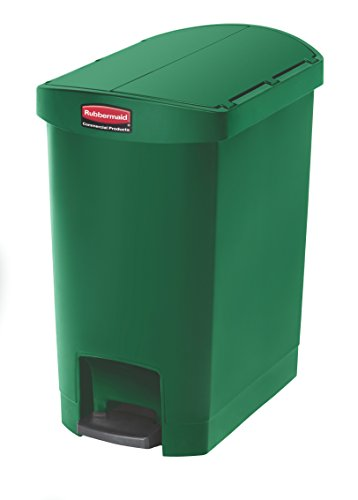 Rubbermaid Commercial Products Slim Jim Step-On Plastic Trash/Garbage Cans ()