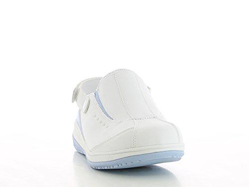 Oxypas Iris, Zapatos de Seguridad Mujer Blanco (Lbl)