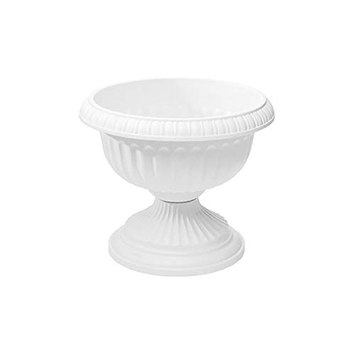 - Grecian Urn Planter, White, 12-Inch