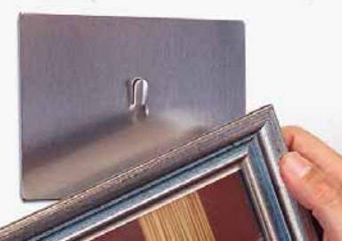 Visual Magnetic Calendar Magna - Magna Visual Magnetic Picture Hanger, Steel Hook, 4 x 6 Inches, 10 lb Capacity, Satin Steel Finish (PH-10)