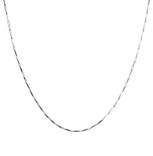 925 Sterling Silver 1.2mm Oval Seed Shape Chain Necklace with Gift Box (18 - Co Shop Tiffany Online