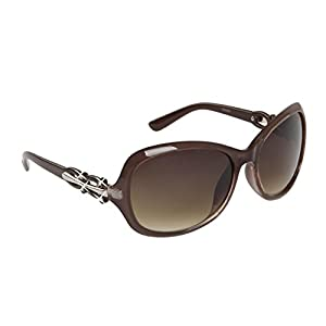 Mirozi Womans 54mm Oversized Rhinestone Sunglasses, Black, Brown, Purple, Red, White stylish color options (Brown)