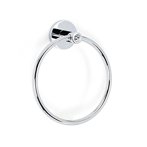 porary I Crystal Modern Towel Rings, 6