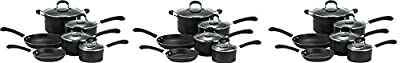 T-fal E938SA Professional Total Nonstick Thermo-Spot Heat Indicator Cookware Set, 10-Piece, Black