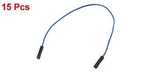 1pin 15pcs de doble cabezal 20cm Gato femenino Conector cable de puente azul - - Amazon.com
