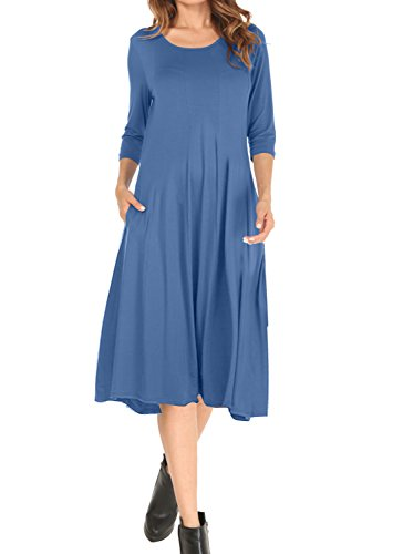 long a line dress with sleeves - 1