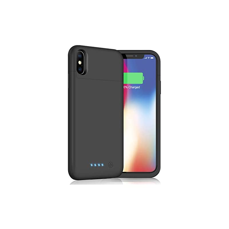 new concept 8f978 3e7dd Battery Case for iPhone X/XS/10, Yacikos 5200mAh Portable Charging ...