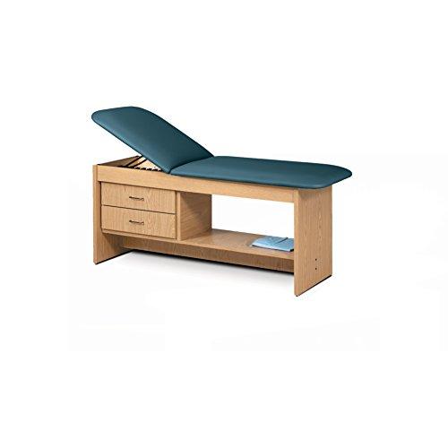 - 30 Treatment Table NAT Wood Laminate Drwrs Silver Pull-Slate Blue