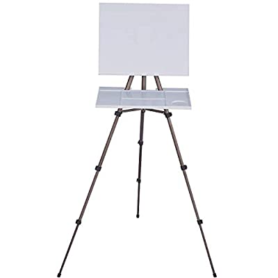 MEEDEN Artist Watercolor Field Easel Portable Easel, Lightweight Field Easel for Watercolors, Sturdy Tripod for Tabletop/Floor Painting, Drawing and Display