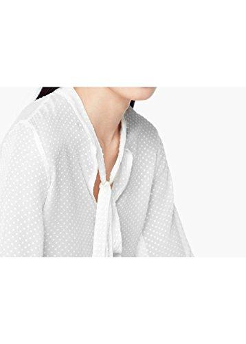 Blouse plumetis en soie - Taille: S - Couleur: Blanc cassé