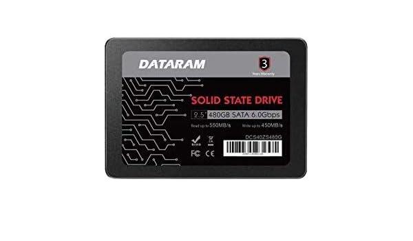 "DATARAM 480GB 2.5/"" SSD DRIVE FOR BIOSTAR RACING X370GT7"